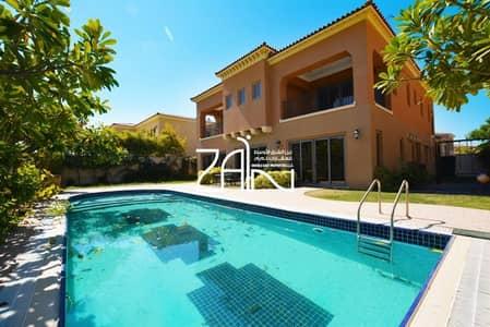 4 Bedroom Villa for Rent in Saadiyat Island, Abu Dhabi - Single Row 4+M Villa Large Plot with Pool