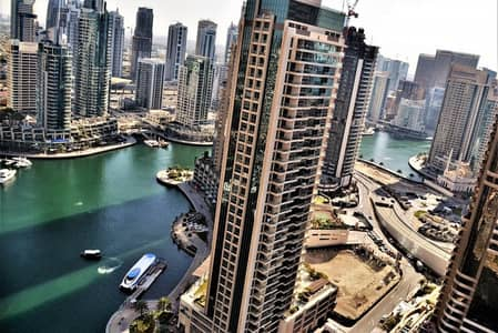 1 Bedroom Apartment for Rent in Dubai Marina, Dubai - Furnished or Unfurnished on high floor |
