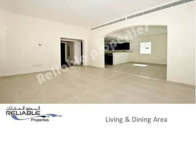 2 Bedroom Villa for Rent in Jumeirah Village Triangle (JVT), Dubai - Facing Park - 2 Bed  Maid Villa For Rent in JVT