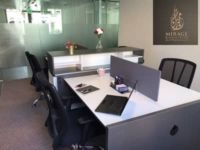 Office for Rent in Old Town, Dubai - BURJ KHALIFA VIEW SHARING OFFICES  FREE DEWA -FREE WI-FI -FREE CHILLER