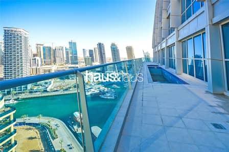 بنتهاوس 4 غرف نوم للايجار في دبي مارينا، دبي - Full Floor | Full Marina View |Penthouse