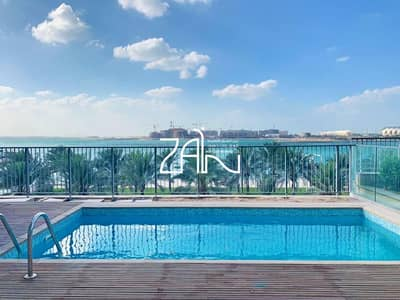 6 Bedroom Villa for Rent in Al Raha Beach, Abu Dhabi - Sea View Large 6 BR Podium Villa w/ Pool