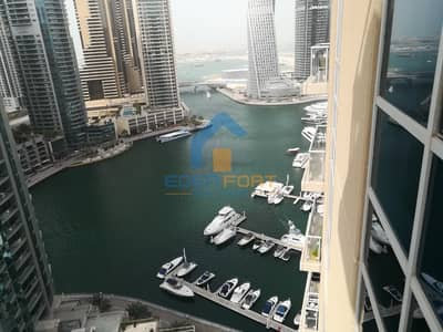 2 Bedroom Apartment for Rent in Dubai Marina, Dubai - Full Sea View|2 Bedroom|Unfurnished|107k