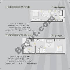 Studio Bedroom Small,Medium