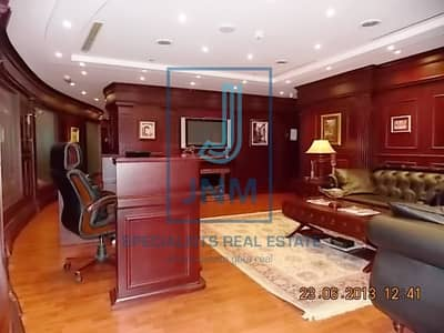 Office for Rent in Jumeirah Lake Towers (JLT), Dubai - Lake View From Furnished Office In Saba1