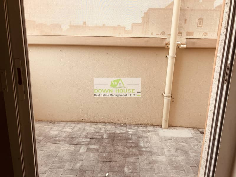 2 Nice 1- bedroom hall with back yard in khalifa city A .