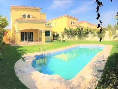 4 Bedroom Villa for Sale in Jumeirah Park, Dubai - 4 Bed + Study with Private Pool in District 4