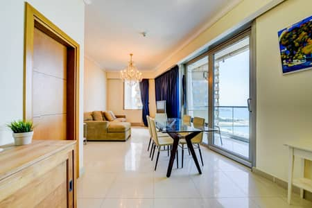 2 Bedroom Flat for Rent in Dubai Marina, Dubai - Fully Furnished Sea view unit 2 BHK in Dubai Marina