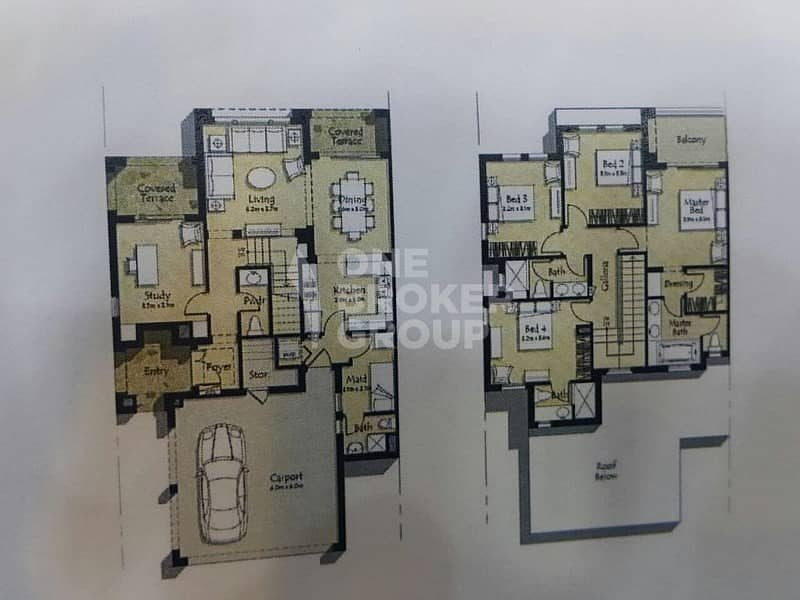 2 READY VILLA|On Park|4 BR plus Maid and Study