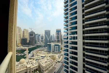 1 Bedroom Apartment for Sale in Dubai Marina, Dubai - Fully Furnished 1BR| Partial Marina view