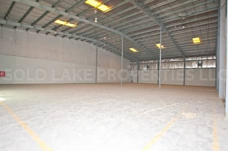 Warehouse for Rent in Mussafah, Abu Dhabi - Big Warehouse Close to Highway w/ 59 KWA