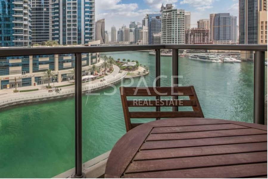 Unique 1 Bed Plus Study with Marina View