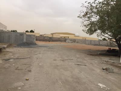 Industrial Land for Rent in Al Saja, Sharjah - 20000 sqft open yard 3 phase power water office boundary wall in saja sharjah