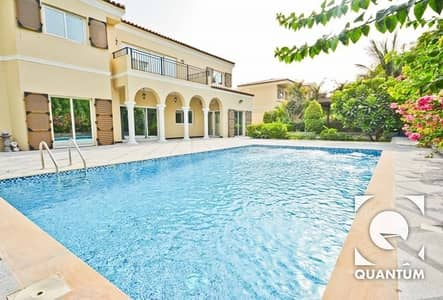 5 Bedroom Villa for Rent in Green Community, Dubai - Upgraded Villa with Pool  |  Cul De Sac.