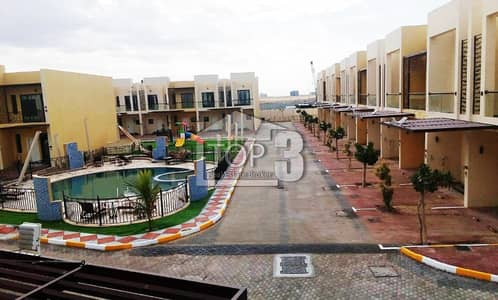 1 Bedroom Townhouse for Rent in Dubai Industrial Park, Dubai - Brand New great located 1BHK Townhouse for rent in Sahara Meadows 2 Dubai South