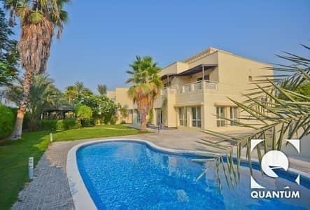 5 Bedroom Villa for Rent in The Meadows, Dubai - Private Pool | Lake Views | Corner Plot.