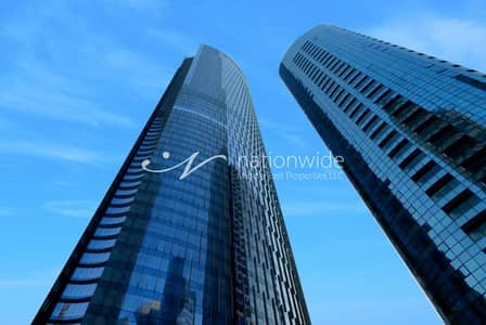 Office for Rent in Al Reem Island, Abu Dhabi - Towering Office Space w/ Elegant finishes