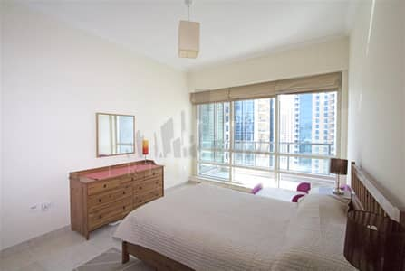 1 Bedroom Apartment for Rent in Dubai Marina, Dubai - 1 bed Marina view chiller free furnished