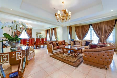 5 Bedroom Villa for Rent in Jumeirah Golf Estate, Dubai - Maid's Room   Vacant   Garden
