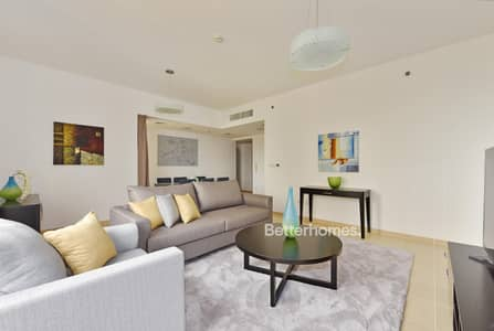 2 Bedroom Flat for Rent in Jumeirah Beach Residence (JBR), Dubai - Shams - Furnished - High Floor