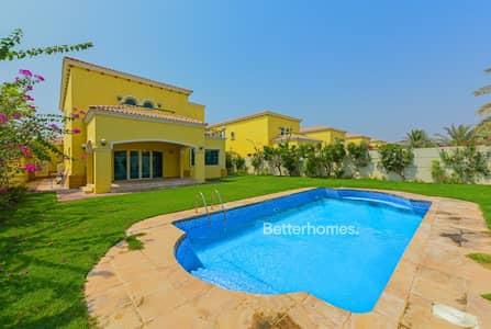 4 Bedroom Villa for Sale in Jumeirah Park, Dubai - Vacant on Transfer  |  Huge Plot |  Pool