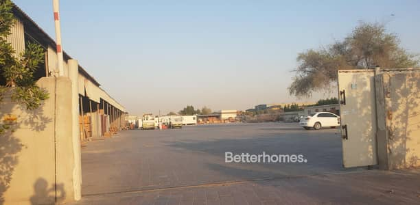 Plot for Rent in Ras Al Khor, Dubai - Open Yard | Shed | Office | Ras Al Khor