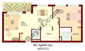 1 Bedroom Apartment 1