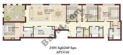 4 Bedrooms Apartment 1
