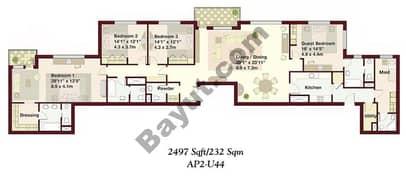 4 Bedrooms Apartment 2