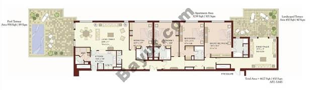 4 Bedrooms Terrace Apartment 1