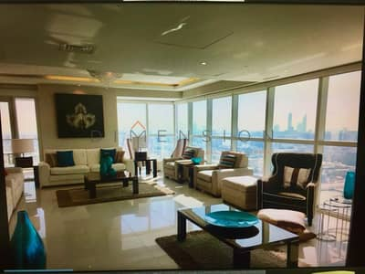 4 Bedroom Apartment for Rent in Al Reem Island, Abu Dhabi - Fully furnished and fitted big penthouse