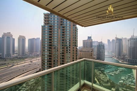 3 Bedroom Apartment for Rent in Dubai Marina, Dubai - Marina and Golf Course 3Br+M in Murjan