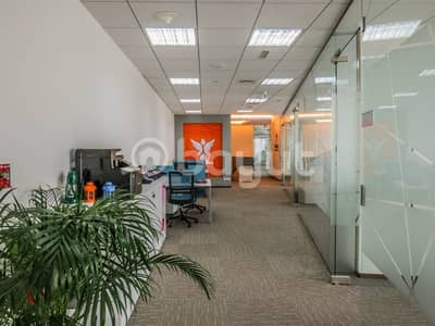 Office for Rent in Business Bay, Dubai - co-working office spaces with sustainability contract-with  a view