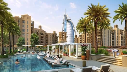 1 Bedroom Flat for Sale in Umm Suqeim, Dubai - Overlooking Burj Al Arab | Rahaal Madinat Jumeirah Living
