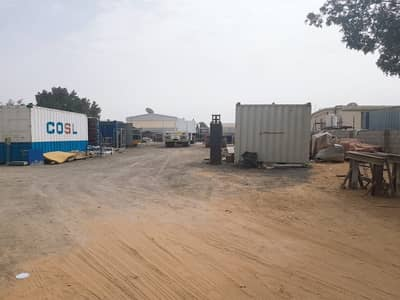 Industrial Land for Rent in Al Saja, Sharjah - 20000 SQFT OPEN YARD 3 PHASE POWER OFFICE BOUNDARY WALL IN SAJA SHARJAH