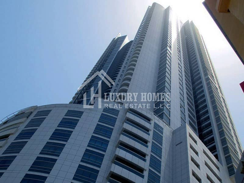 Spacious 1 BHK with Parking for Rent in Corniche Tower, Ajman