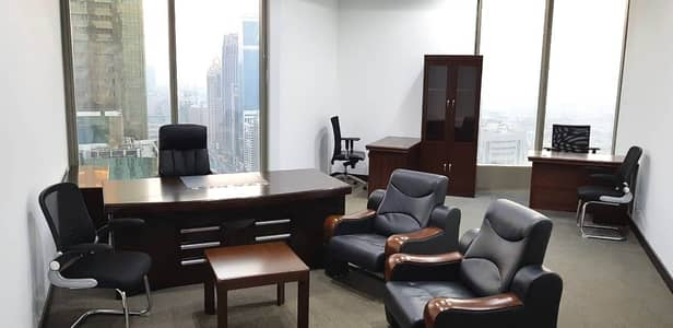 Office for Rent in Sheikh Zayed Road, Dubai - Fully Furnished Offices With Free Dewa