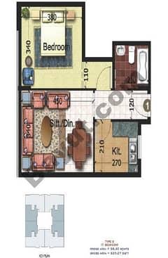Type B 1 Bedroom