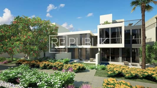 3 Bedroom Villa for Rent in Al Salam Street, Abu Dhabi - Brand New 3BR+M Townhouse in Bloom Gardens