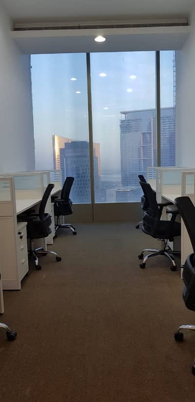 Office for Rent in Sheikh Zayed Road, Dubai - Flexi Desk office for rent/full year contract /Dewa internet free