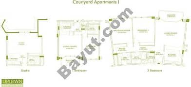 Courtyard Apartments 1,2, Studio