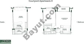 Courtyard Apartments 1, Studio