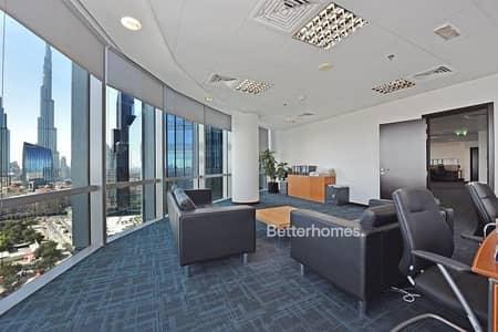 Office for Sale in DIFC, Dubai - Partitioned   High Floor   Burj Khalifa View