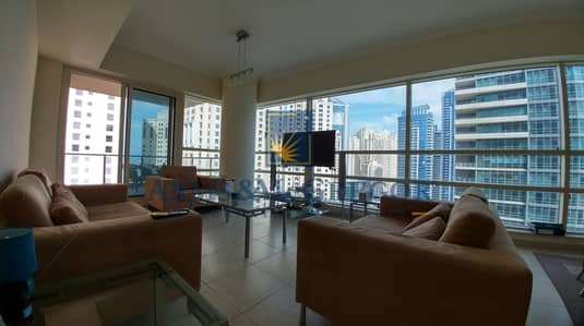 2 Bedroom Apartment for Rent in Dubai Marina, Dubai - Spacious | Furnished | Bright Apartment