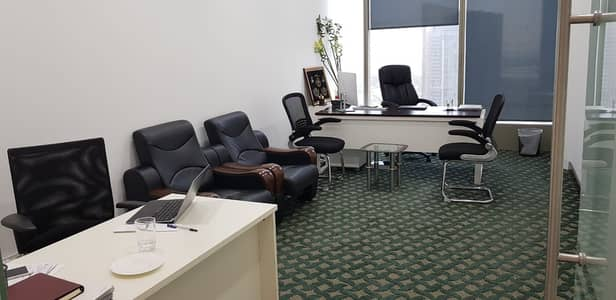 Office for Rent in Sheikh Zayed Road, Dubai - Fully Fitted Flexi And Independent Offices -High Floor-Sea View-Near Financial Center Metro