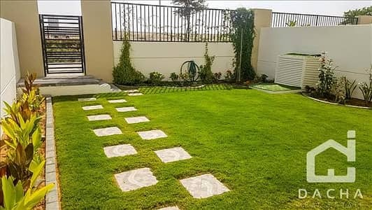 3 Bedroom Villa for Rent in Town Square, Dubai - Vacant Single Row Type 6 with landscaping