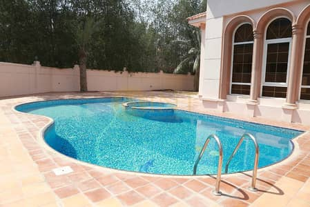 7 Bedroom Villa for Rent in Al Safa, Dubai - Huge 7 Master Bedroom villa with pool and lift