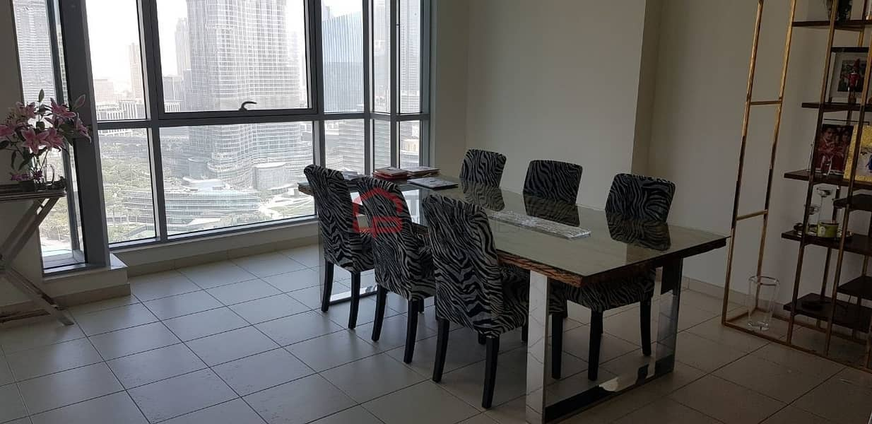 2 Full Fountain and Burj Khalifa Views 2BR High Floor