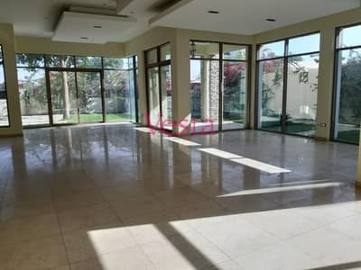 5 Bedroom Villa for Rent in Between Two Bridges (Bain Al Jessrain), Abu Dhabi - Large garden