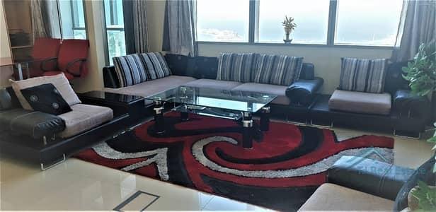 3 Bedroom Apartment for Rent in Dubai Marina, Dubai - !! Sea View ! Full Furnished 3 Bed Apt !!